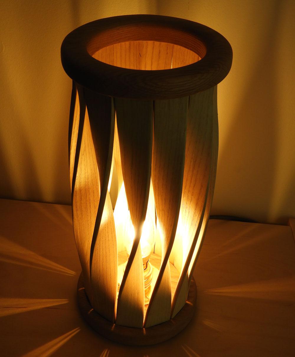 table lamp (using steam bending)